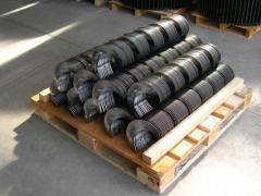 Цельнотянутые спирали и витки шнека (сегменты)